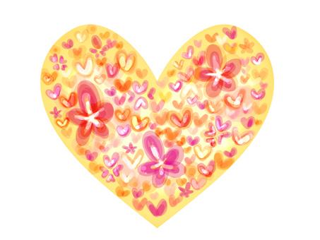 【Pastel】 floral heart