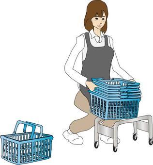 Arrangement of shopping cart