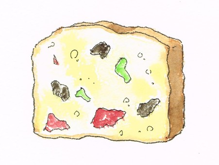 Fruit cake watercolor