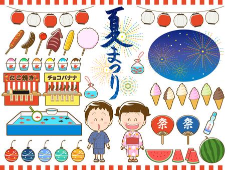 Summer_Japan Summer Festival Illustration Set_013