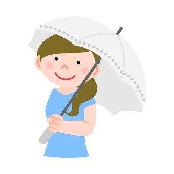 A woman holding a parasol 1