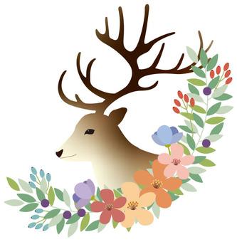 Flowers and reindeer