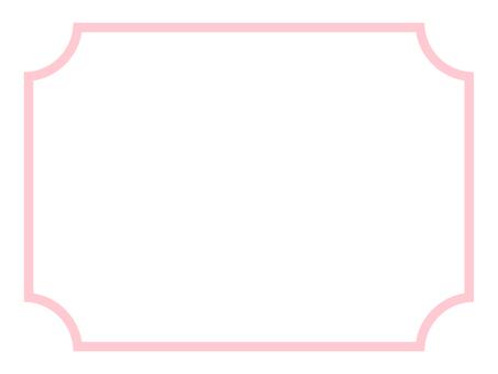 Simple pink frame