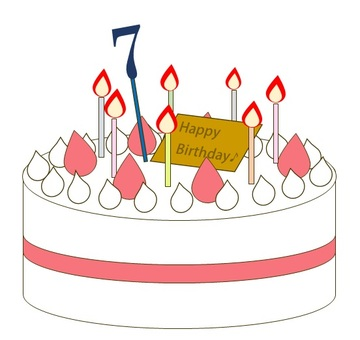 7 year old birthday cake