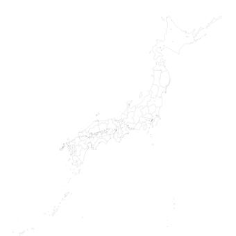 Japanese archipelago_white map