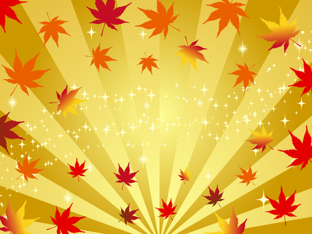 Japanese style golden background of autumn maples