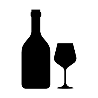Wine and glass silhouette