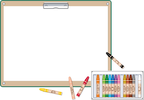 Crayon drawing board frame drawing paper