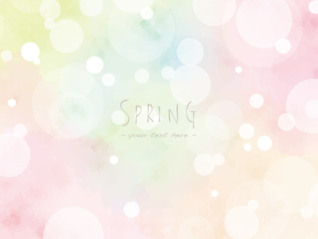 Spring color frame ver06