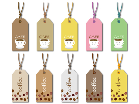 Cafe paper tag material set