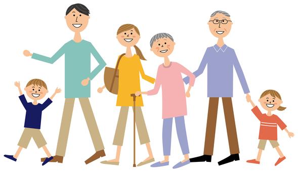 お出かけ三世代家族