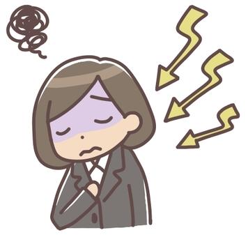 스트레스를 느끼는 여성