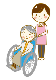 Nursing wheelchair