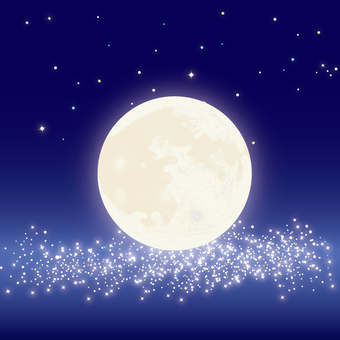 Moon and Milky Way 2