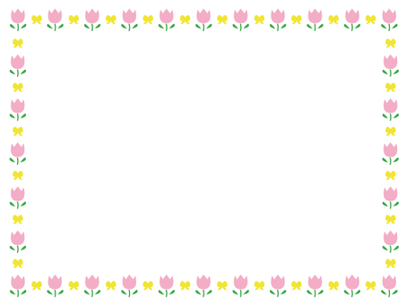 Flower decoration frame 4