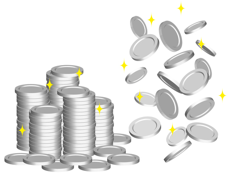 Virtual currency silver medal coin game casino