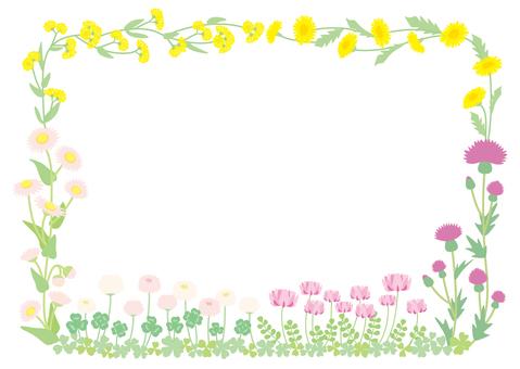 봄 들꽃 프레임 01