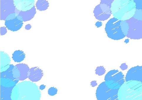 Summer polka dot frame clearly