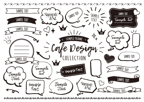 cafe design speech bubble