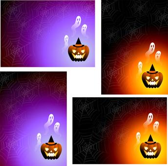 ジャックオーランタンと幽霊4種セット