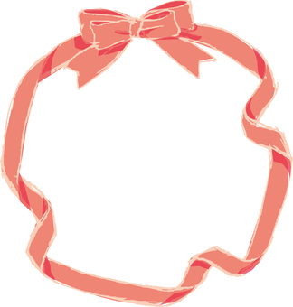 Pink ribbon frame 2