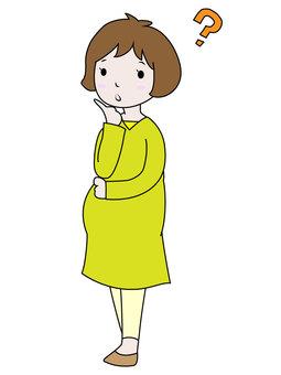 Pregnant woman / Standing pose (Hatena)