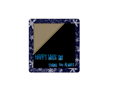 White day message card