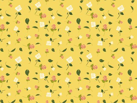 ばらパターン黄色
