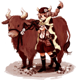 Cows and girls