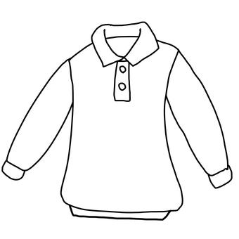 Long sleeve polo shirt drawing
