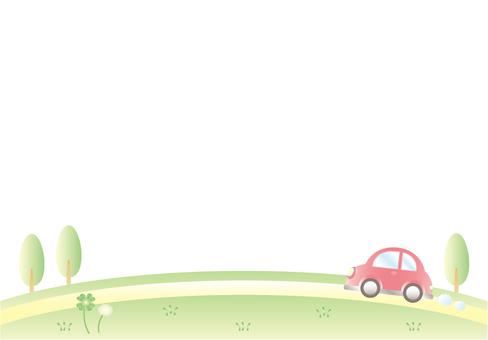 Prairie and car (no sky)