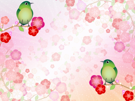 Ume shiny background background 004