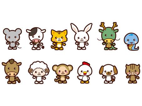 Cute zodiac animals