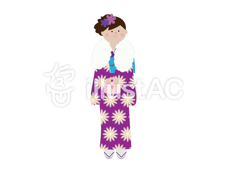 和服を着ている女の子イラスト素材イラスト No 1340851無料イラスト