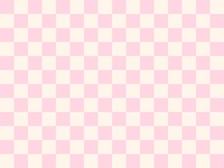 Happy checkerboard pattern pastel pink * pastel yellow