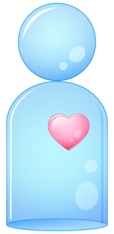 Glass doll with heart