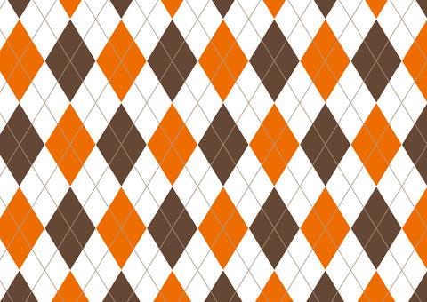 Argyle ● Orange × Brown