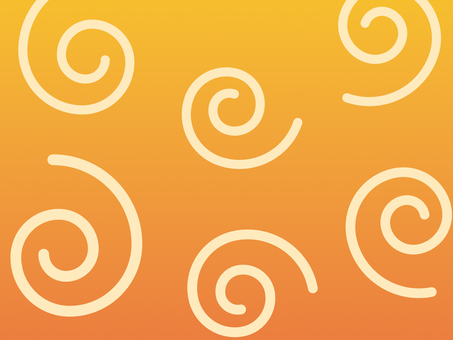 Wallpaper large swirl orange