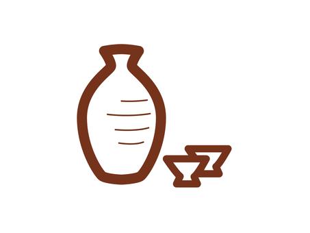 Japanese sake (燗 徳 里)