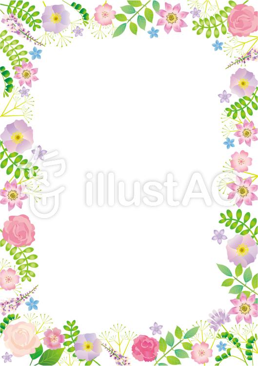お花と植物のフレームa4イラスト No 707604無料イラストなら