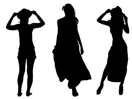 Resort style woman _ silhouette