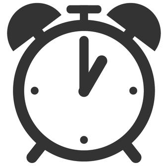 The alarm clock has come at 1 o'clock.