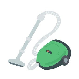 Retro vacuum cleaner (green)