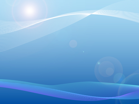 Blue background material of advanced and mysterious image