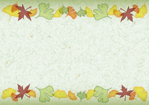 Fall decoration line Japanese paper · green