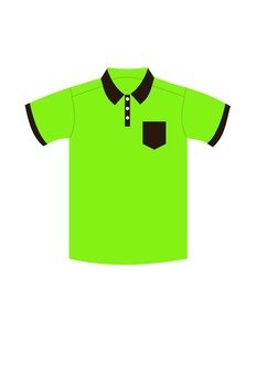 Polo shirt (yellow green)