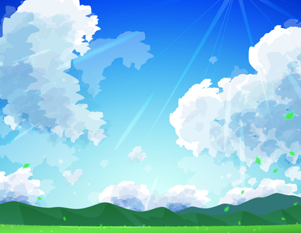 Mountain and sky _ background sunlight