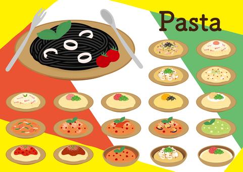 Various sets of pasta