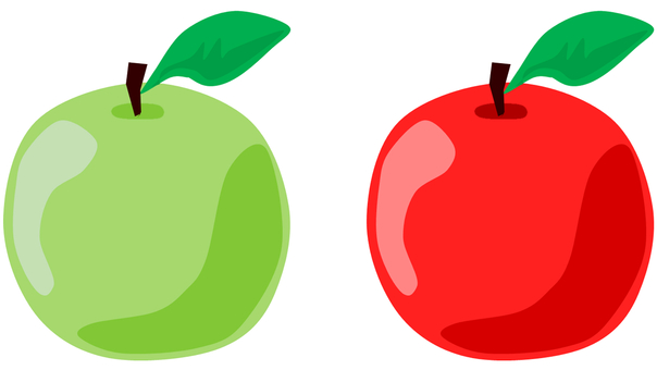Apple and green apple
