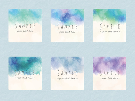 Watercolor frame set ver 14
